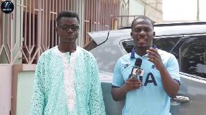 Comedian Ghana Boy (L) and Zionfelix on Uncut