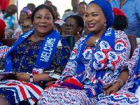First Lady Rebecca Akufo-Addo with Second lady Samira Bawumia