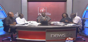 Panelists for today's edition of Newsfile with host, Sampson Anyenini (middle)