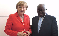 President Akufo-Addo with Chancellor Angela Merkel