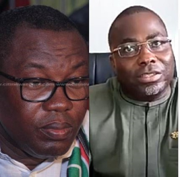NDC National Chairman, Samuel Ofosu Ampofo and Charles Bissue