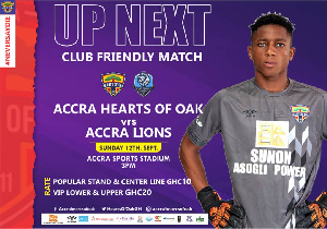 The game is part of Hearts of Oak preparations for Africa