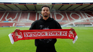 Swindon Town goalkeeper Jojo Wallocot