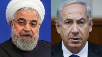Shugaban Iran Hassan Rouhani (hagu) da Firam ministan Isra'ila Benjamin Netanyahu