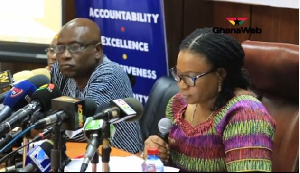 EC Boss Charlotte Osei (Extreme Right) explains why some candidates were disqualified