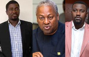 Siidi Abubakar, John Mahama and John Dumelo
