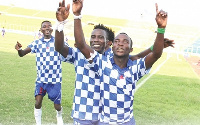 Jubilant Accra Great Olympics players