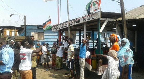 Some NDC supporters at Ashaiman constituency