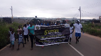 The health walk commenced from Ayawaso junction and ended at the Church premises.