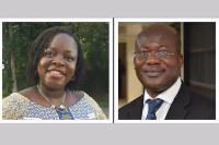 Prof Nana Aba Amfo and Prof Eric Danquah