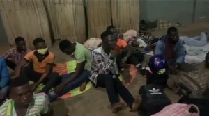 The 22 persons were arrested for trying to flee to Togo on motorbikes