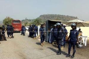 The Ghana Police discharging their duty
