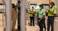 The aviation security screening equipment at the Kotoka International Airport