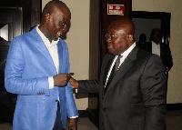 Minority Leader, Haruna Iddrisu and President Akufo-Addo
