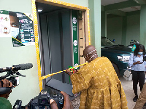 Ambrose Dery, Minister of Interior, inaugurating the facility