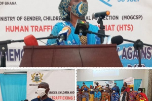 The Ministry of Gender campaigns against human trafficking in the country