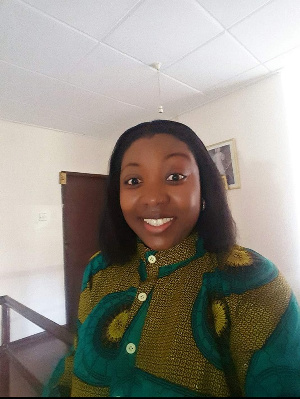The writer, Afua Gyane is a business consultant and a youth motivator