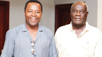 King Ampaw (right) and David Dontoh who plays the lead roles in the films