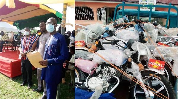 Abangah Fuseini donates to Aowin NPP campaign