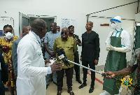 President Akufo-Addo visited Kotoka International Airport, Tema General Hospital & Ridge Hospital