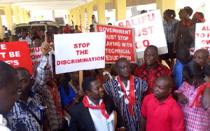 For 2 years,  staff of the six technical universities worked with no due & commensurate salaries