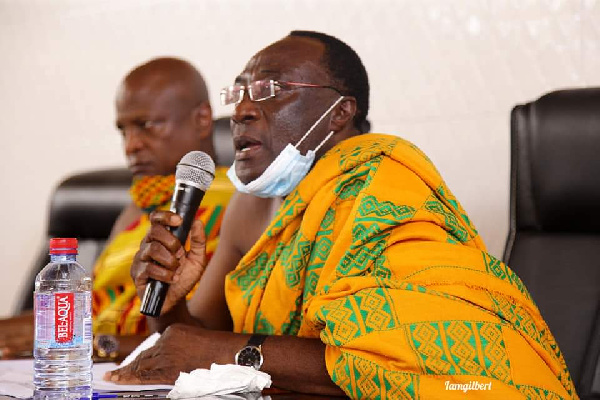 The President of the Volta Region House of Chiefs, Togbe Tepre Hodo IV