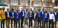 Opoku Ware Robotic team with Dr. Yaw Osei Adutwum, others after winning the award