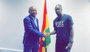 Ademola with Hearts CEO Togbe Afede