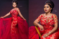 Mercy Aigbe in the 'controversial' dress