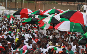 NDC members at a rally.