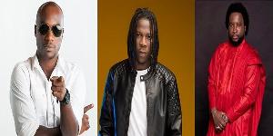 Musician Kwabena Kwabena, Stonebwoy and Sonnie Badu