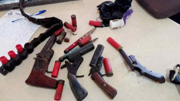 Some weapons retrieved in the operation include 1 AK 47 Assault Rifle and 1 M 16 Rifle, knives