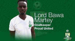 Goalkeeper Lord Bawa Martey