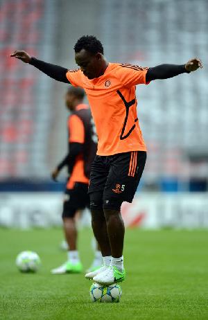 Ghana midfielder Michael Essien