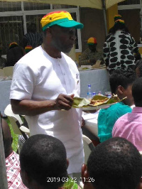 Finance Minister, Ken Ofori-Atta at the kenkey party