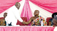 President-Elect, Nana Addo and President of the National House of Chiefs, Togbe Afede XIV