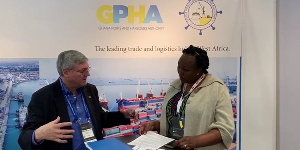 Esther Gyebi-Donkor, General Manager, Marketing and Corporate Affairs of GPHA (R)
