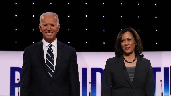 Democratic Front-runner Joe Biden and his Vice Presidential pick, Kamala Harris