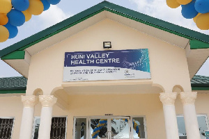Mrs. Akufo-Addo commissioned the new Huni Valley Health Centre
