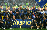The France national team was crowned champions after defeating the Croatia team