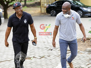 A file photo of the legendary Abedi Pele and Mr. Lomotey