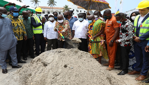 President Nana Akufo-Addo, others at the sod cutting ceremony