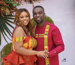 Ghanaian gospel musician Joe Mettle and wife