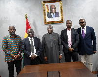 Dr. Bawumia with SWAG executives after the meeting
