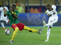 Atsu in action for Ghana at the AFCON