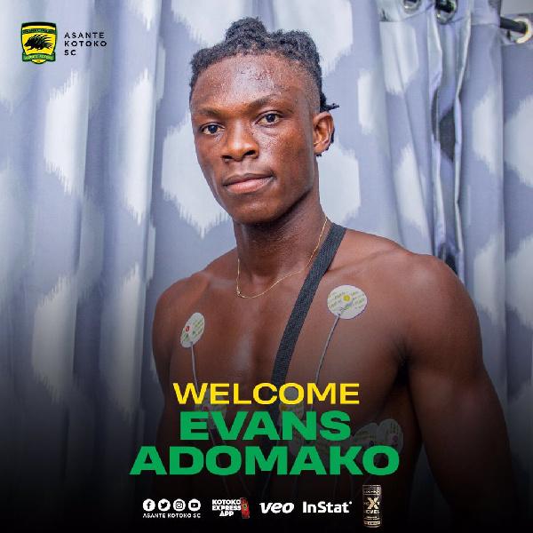 Asante Kotoko sign former Phar Rangers forward Evans Adomako