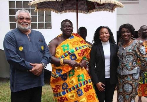 Asantehene, Otumfuo Osei Tutu II with the Rawlingses