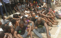 Those who were arrested include 48 Nigerians, 9 Ivorians, while the rest are Ghanaians.