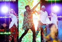 Fuse ODG on stage at the AFCON closing ceremony