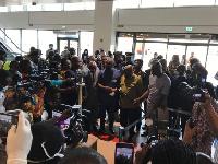 Nana Akufo-Addo at KIA